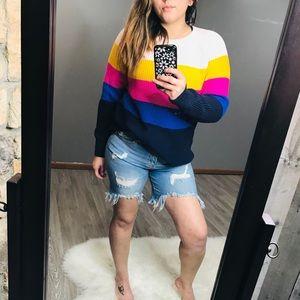 Gap Color Block Crew neck sweater